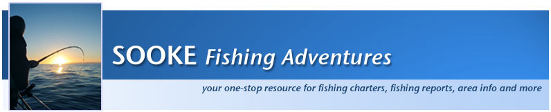 Sooke Fishing Adventures Logo and Home Page