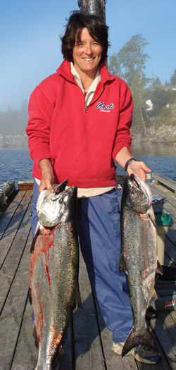 Sooke summer salmon fishing with VIP fishing charter